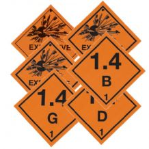 Class 1 Hazard Labels 100mm